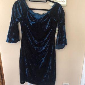 Ralph Lauren deep teal velvet dress size 10